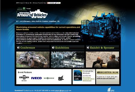 International Armoured Vehicles Landing Page